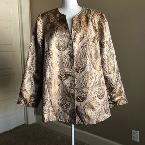 Plus Size Gold Jacket By Sag Harbor. Size 20W.